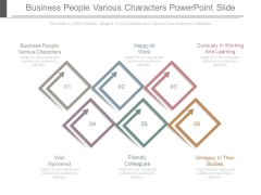 Business People Various Characters Powerpoint Slide