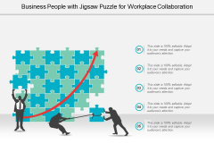 Business People With Jigsaw Puzzle For Workplace Collaboration Ppt PowerPoint Presentation Infographic Template Outfit