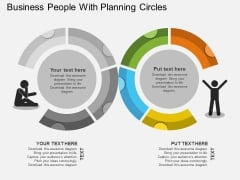 Business People With Planning Circles Powerpoint Template