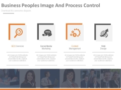 Business Peoples For Digital Marketing Services Powerpoint Template