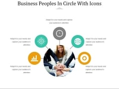 Business Peoples In Circle With Icons Ppt PowerPoint Presentation Gallery Background