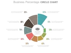 Business Percentage Ratio Circle Chart Powerpoint Slides