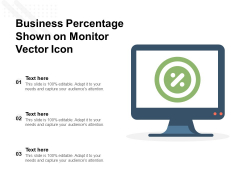 Business Percentage Shown On Monitor Vector Icon Ppt PowerPoint Presentation Infographic Template Slide PDF