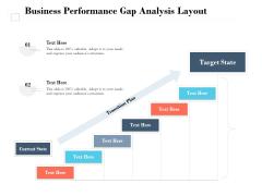 Business Performance Gap Analysis Layout Ppt PowerPoint Presentation Inspiration Portrait PDF