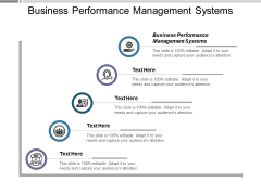 Business Performance Management Systems Ppt PowerPoint Presentation Slides Deck