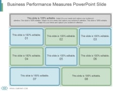 Business Performance Measures Powerpoint Slide