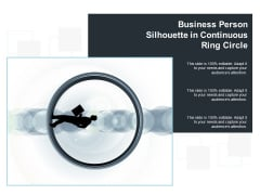 Business Person Silhouette In Continuous Ring Circle Ppt Powerpoint Presentation Ideas Design Templates