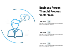 Business Person Thought Process Vector Icon Ppt PowerPoint Presentation Ideas Gallery