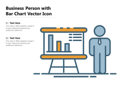 Business Person With Bar Chart Vector Icon Ppt PowerPoint Presentation File Introduction PDF