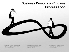 Business Persons On Endless Process Loop Ppt Powerpoint Presentation Inspiration Template