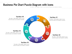 Business Pie Chart Puzzle Diagram With Icons Ppt PowerPoint Presentation File Infographics PDF