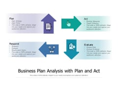 Business Plan Analysis With Plan And Act Ppt PowerPoint Presentation Ideas Vector PDF