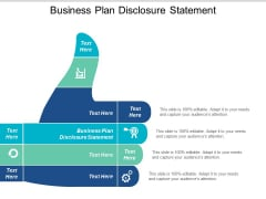 Business Plan Disclosure Statement Ppt PowerPoint Presentation Portfolio Icon Cpb