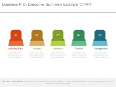 Business Plan Executive Summary Example Of Ppt