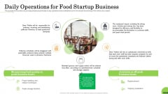 Business Plan For Fast Food Restaurant Daily Operations For Food Startup Business Topics PDF