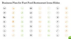 Business Plan For Fast Food Restaurant Icons Slides Mockup PDF