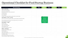 Business Plan For Fast Food Restaurant Operational Checklist For Food Startup Business Download PDF