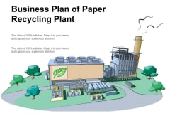 Business Plan Of Paper Recycling Plant Ppt Powerpoint Presentation Outline Introduction