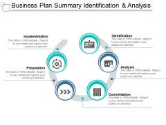 Business Plan Summary Identification And Analysis Ppt Powerpoint Presentation Infographic Template Portfolio