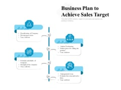 Business Plan To Achieve Sales Target Ppt PowerPoint Presentation Gallery Design Templates PDF