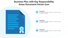 Business Plan With Key Responsibility Areas Document Vector Icon Ppt PowerPoint Presentation File Deck PDF