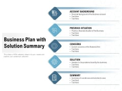 Business Plan With Solution Summary Ppt PowerPoint Presentation Inspiration Format Ideas