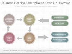 Business Planning And Evaluation Cycle Ppt Example