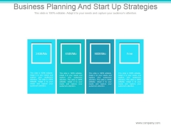 Business Planning And Start Up Strategies Ppt PowerPoint Presentation Visuals
