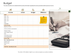 Business Planning And Strategy Playbook Budget Information PDF