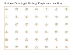 Business Planning And Strategy Playbook Icons Slide Icons PDF