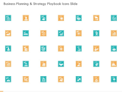 Business Planning And Strategy Playbook Icons Slide Ppt PowerPoint Presentation Layouts Designs Download PDF