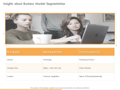 Business Planning And Strategy Playbook Insights About Business Market Segmentation Clipart PDF