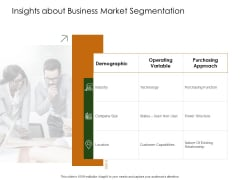 Business Planning And Strategy Playbook Insights About Business Market Segmentation Sample PDF