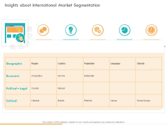Business Planning And Strategy Playbook Insights About International Market Segmentation Themes PDF