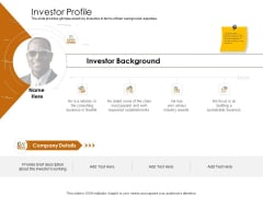 Business Planning And Strategy Playbook Investor Profile Introduction PDF
