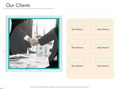 Business Planning And Strategy Playbook Our Clients Ppt PowerPoint Presentation Inspiration Design Inspiration PDF