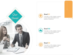 Business Planning And Strategy Playbook Our Goal Ppt PowerPoint Presentation Styles Ideas PDF