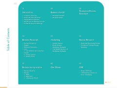 Business Planning And Strategy Playbook Table Of Contents Ppt PowerPoint Presentation Slides Styles PDF