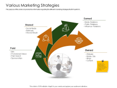 Business Planning And Strategy Playbook Various Marketing Strategies Designs PDF