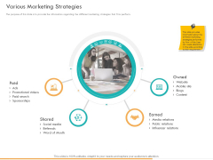Business Planning And Strategy Playbook Various Marketing Strategies Ppt PowerPoint Presentation Inspiration Graphic Images PDF