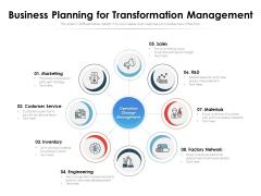 Business Planning For Transformation Management Ppt PowerPoint Presentation Gallery Slide Download PDF