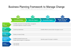 Business Planning Framework To Manage Change Ppt PowerPoint Presentation Layouts Themes PDF