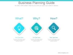 Business Planning Guide Ppt PowerPoint Presentation Portfolio