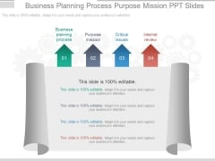 Business Planning Process Purpose Mission Ppt Slides