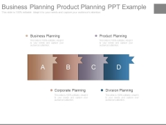 Business Planning Product Planning Ppt Example