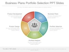 Business Plans Portfolio Selection Ppt Slides