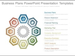 Business Plans Powerpoint Presentation Templates