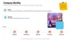 Business Portfolio For Event Management Enterprise Company Identity Pictures PDF