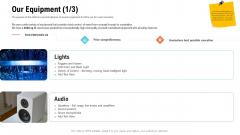 Business Portfolio For Event Management Enterprise Our Equipment Audio Portrait PDF