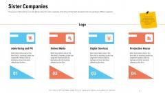 Business Portfolio For Event Management Enterprise Sister Companies Diagrams PDF